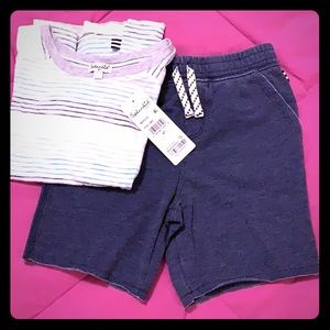 New with tags Splendid short and t shirt set
